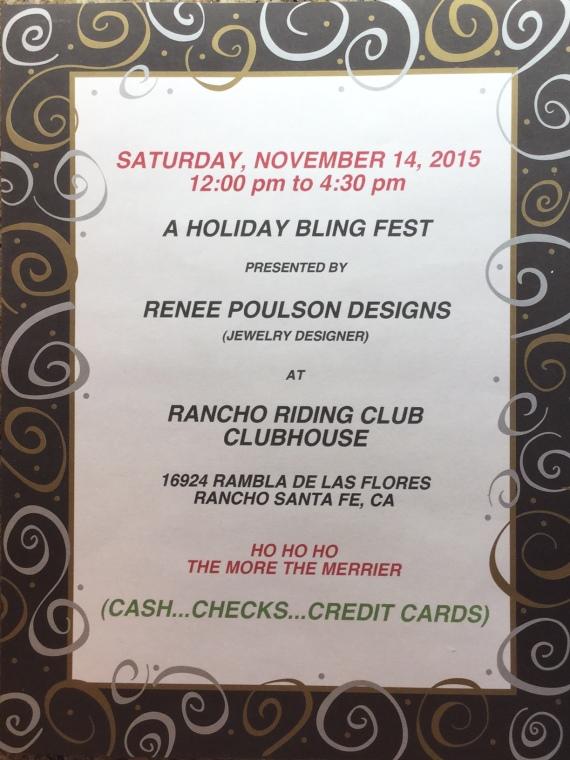 Holiday Bling Fest: Nov. 14, 12pm-4:30pm