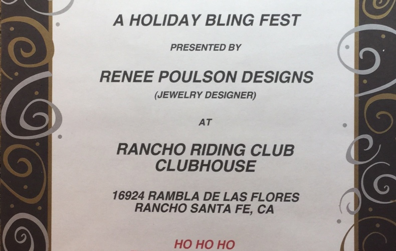 Holiday Bling Fest: Nov. 14, 12pm-4:30pm