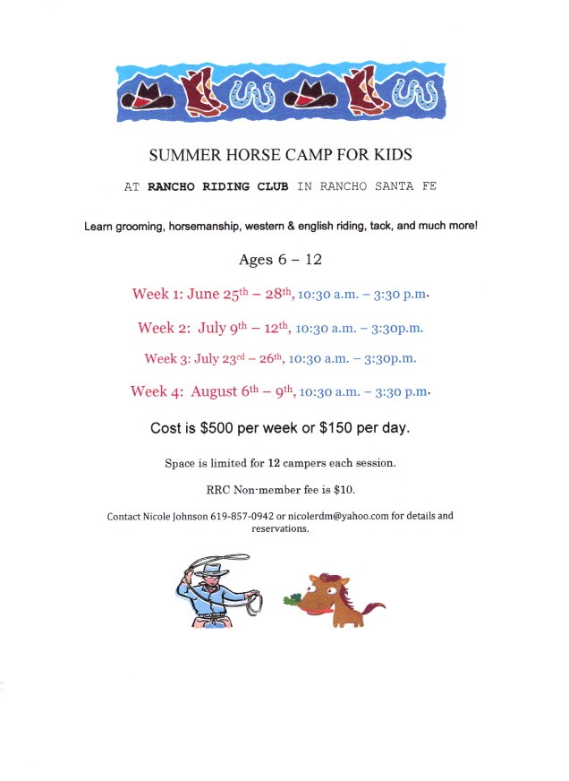 Announcing the 2019 Summer Horse Camp for Kids